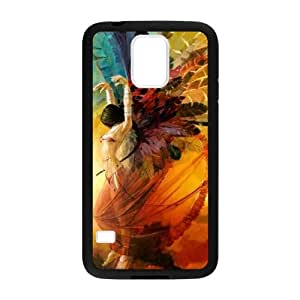 SKCASE Cover Case for Samsung Galaxy S5 I9600 Hipster Feather Quote