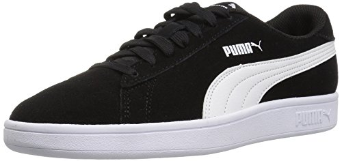 PUMA Unisex Smash v2 SD Kids Sneaker Black White, 6 M US Big