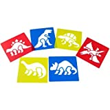Washable Plastic Dinosaur Stencils (Set of 6)