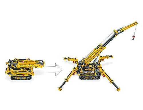 LEGO - Technic Gru Cingolata Compatta, Ricostruibile a Torre Compatta, Set di Costruzioni 2 in 1, 42097 4 spesavip