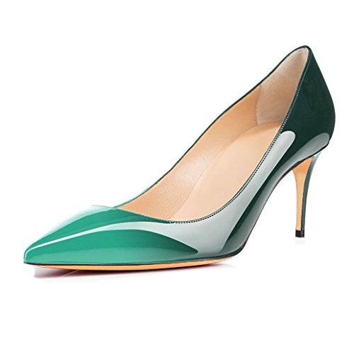 Taille Talon Femme Vert multicolore Ubeauty Grande Escarpins Aiguille Talons Stilettos Haut 65mm Chaussures Femmes w7x8q7I0