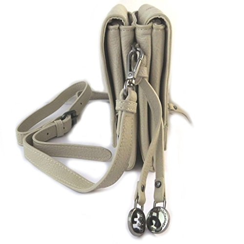 Bag designer Lulu Castagnettegesso beige (2 scomparti).