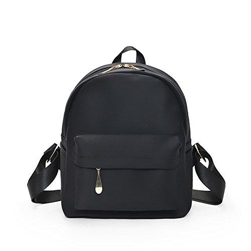 XSBAO Mochila De Moda Salvaje De Ocio Simple Mini Mochila Black