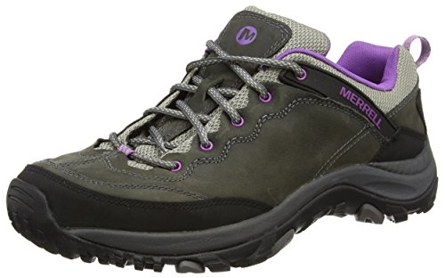 Merrell WoMen Salida Trekker Low Rise Hiking Shoes Grey (Castle Rock/Purple)