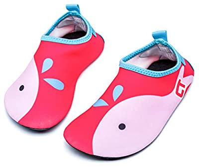 Giotto Kids Swim Water Shoes Quick Dry Non-Slip for Boys & Girls, Pink, 24-25