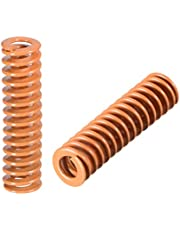 uxcell 8mm OD 30mm Long Spiral Stamping Light Load Compression Mould Die Spring Yellow 10Pcs