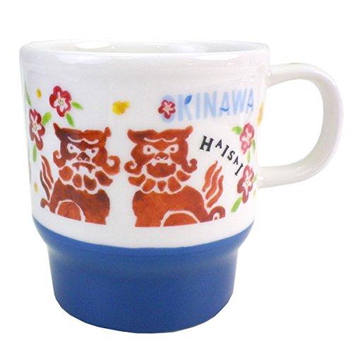 STARBUCKS 스타벅스 스타벅스 일본 한정 오키나와 한정 머그컵 리뉴얼 디자인 C 서 불상화(Hibiscus) 류큐 okinawa 나하 지역 한정 본고장 한정백 화이트 청 블루 네이비 머그 컵 도기 355ml