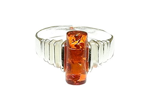 Authentic Baltic Amber Ring 02 Natural Spiritual Healing Crystal Energy (Gift Box) (Amber Crystal Clear)