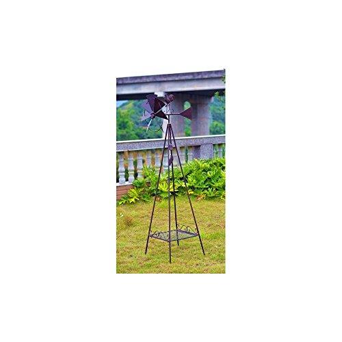 [Metal Plant Stand - Weather Vane With 1 Shelf] (Weathervane Stand)