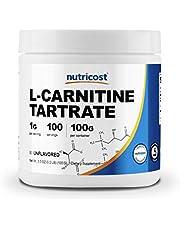 Nutricost L-Carnitine Powder - 100 Grams - 1 Gram per Serving; 100 Servings - L-Carnitine Tartrate