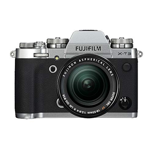 Fujifilm X-T3 Mirrorless Digital Camera with 18-55mm Lens (Silver) w/Brown Leather Case, 128GB Memory Card + Photo & Video Editing Software Bundle