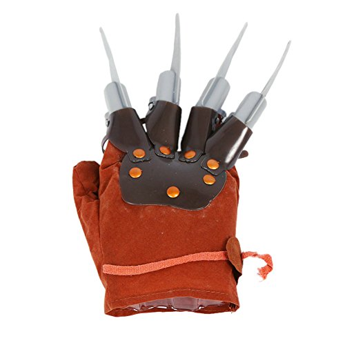 1pc Licensed Freddy Kruger Costume Gloves Halloween Costumes Masquerade Party Scary Toy Supplies Decor Accessory -