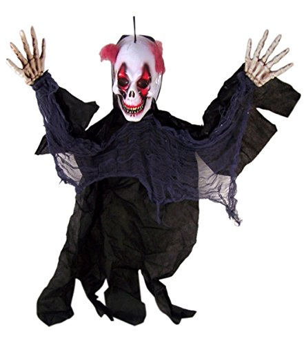 Scary Vacu Hanging 3' Clown Halloween Prop Haunted House Decorations