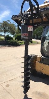 Skid Steer Auger Attachment (McMillen X1475 Auger / Post Hole Drive Unit Attachment And 9