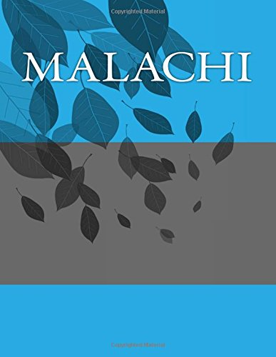 Download Malachi: Personalized Journals - Write In Books - Blank Books You Can Write In pdf epub