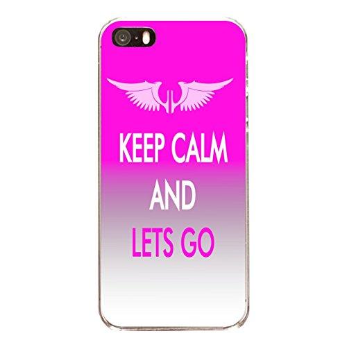 """Disagu Design Case Coque pour Apple iPhone SE Housse etui coque pochette """"KEEP CALM AND LETS GO"""""""