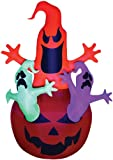 AIRBLOWN PUMPKIN WITH NEON GHOST INFLATABLE HAUNTED HOUSE HALLOWEEN PROP Décor - SS64266G
