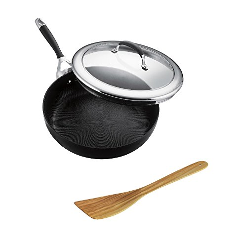 Elegent Skillet with Olive Wood Spatula Gift Set