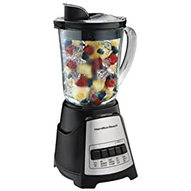 Hamilton Beach 58148A Power Elite Multi-Function Blender 51 All the power you need to create smoothies, icy drinks, milk shakes and more 700 watts of peak blending power Revolutionary Wave-Action system continuously pulls mixture down into the blades for smooth results every time