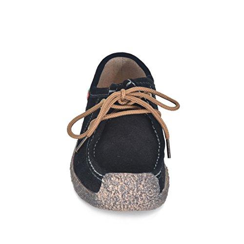 Scarpe Donna Oxford Scarpe Oxford Con Lacci Stringate Scarpe Sportive Sneakers Nere Scamosciate
