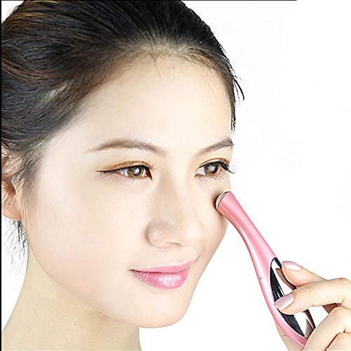 Face Care Massager Eyes Wrinkle Removing Pen Electronic Eye Massage Instrument Vibration Beauty Pen White -