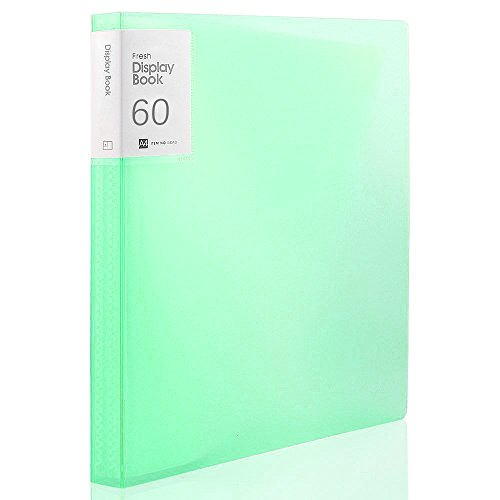 Shuter 60-Pocket Protector Presentation Book A4 Size 120-Page Capacity Available for Report Sheets, Artworks, Music Sheets, Clippings