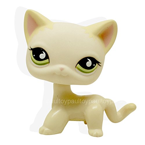Catzaashop Catzaashop #733 Littlest Pet Shop Yellow Cream Short Hair Cat Kitty Green Eyes RARE Toy LPS - Three Blind Mice Costumes For Adults