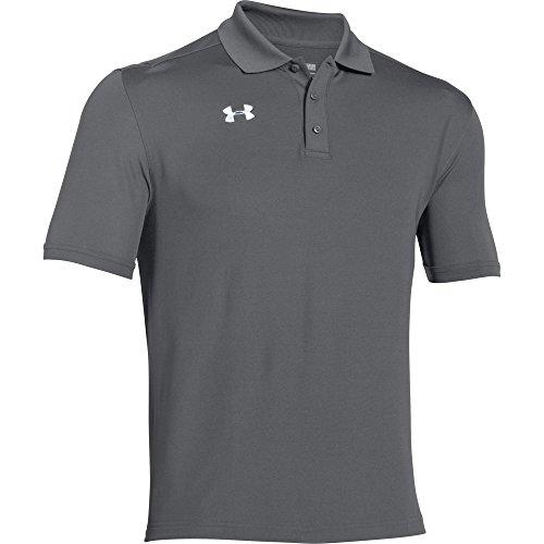Graphite Golf Shirt - Under Armour Men's Team Armour Polo (Small, Graphite)
