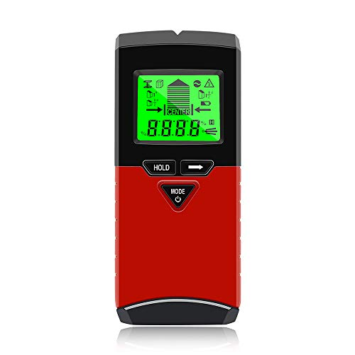 Stud Finder Wall Scanner,VSTM 5 in 1 Electronic Stud Sensor Detector & Digital Angle Finder Level Gauge with LCD Display for Center Edge Finding Wood AC Wire Metal Studs Level Angle Detection