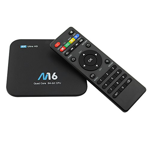 KKmoon M16 Smart LAN & WiFi HD Media Player Android 7.1 TV Box Amlogic S905X Quad-core UHD 4K 1GB / 8GB H.265 VP9 HDR10 US Plug by KKmoon