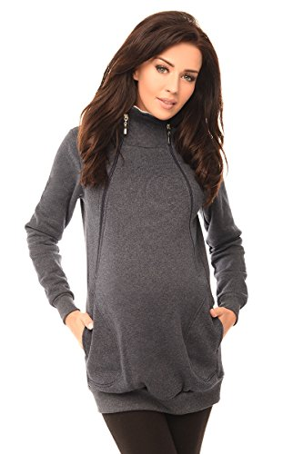 Purpless Maternity 2in1 Pregnancy and Nursing Hoodie With Zips 9052 ee87e9eb2