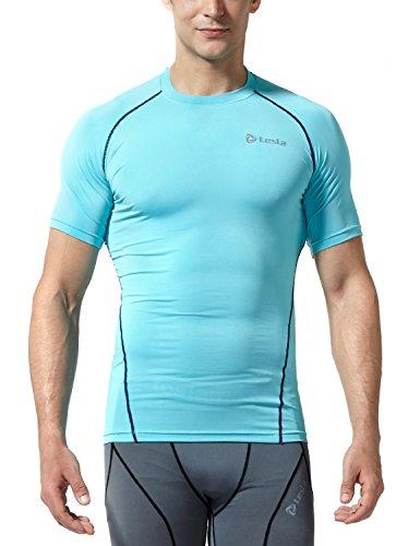 Tesla TM-R13-SBNZ_Medium Men's Short Sleeve T-Shirt Cool Dry Compression Baselayer R13 ()