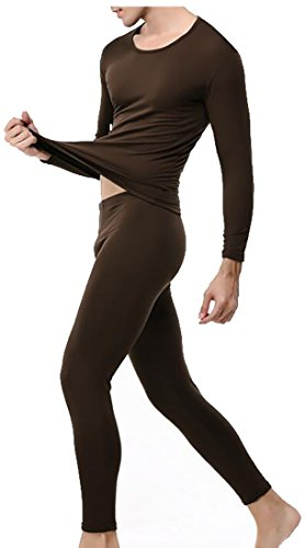 today-UK Men's Heat Retention Warm Comfy Thermal Long Underwear Set 1