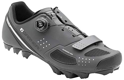 Louis Garneau Men's Granite 2 Mountain Bike MTB Shoes with BOA Adjustment System, Asphalt, US (10), EU (44)