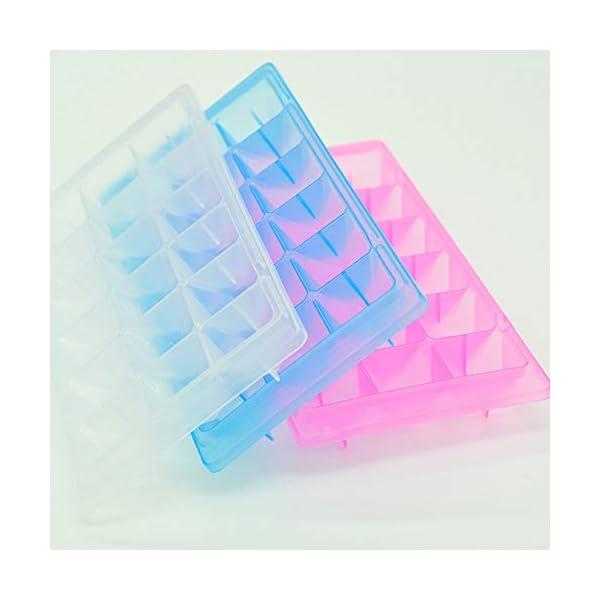 vitihipsy 18 Griglie vasche per Gelato Facile Rilascio Ice Cube Maker contenitori per muffe Fai da Te Vassoio del cubo… 3 spesavip