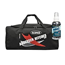 Andersen Hitches 3604 Camper Levelers | TRAILER GEAR Duffel Bag 3600 | 2 Camper Levelers, 4 TUFF Chocks, 1 Rapid Jack & Rubber Pad, 1 Clean Step, 4 TUFF Pads | Best RV Leveling | FREE Sample Bug Gone