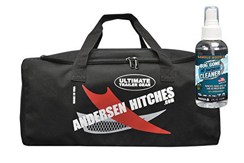 Andersen Camper Levelers | TRAILER GEAR Duffel Bag 3600 | 2 Camper Levelers, 4 TUFF Chocks, 1 Rapid Jack & Rubber Pad, 1 Clean Step, 4 TUFF Pads | Best RV Leveling | Sample-Size Bug Gone by Andersen Hitches