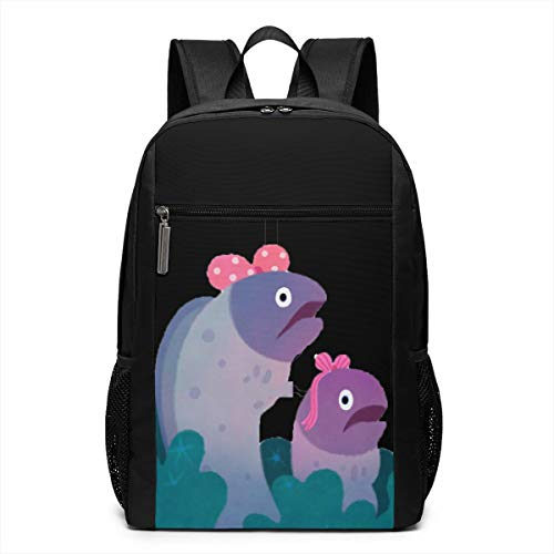 Ribbon Eels Travel Laptop Backpack Water Resistant College School Computer Bag for Women & Men Fits 17 Inch Laptop and Notebook (Pink Ribbon Janet)