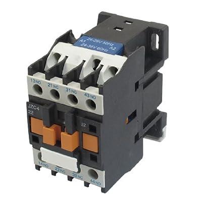 uxcell JZC4-22 24-36V 50/60Hz Coil 20A 3P Three Pole 2NO 2NC AC Contactor