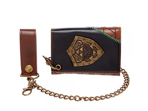 [Nintendo Legend of Zelda Triforce Shield Tri-Fold Chain Wallet] (Game Wallet)