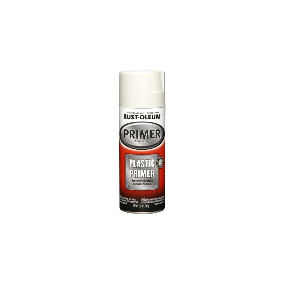 Oleum 249323 Automotive 12 Ounce Plastic Primer Spray Paint, White