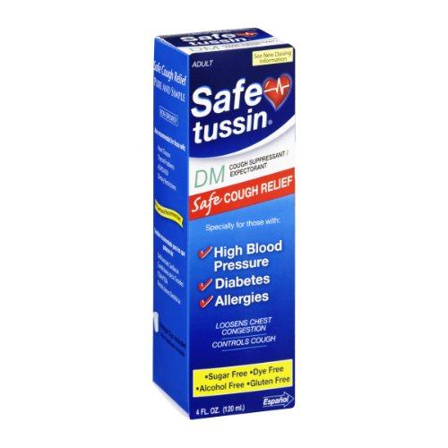 Safetussin DM Cough Suppressant/ Expectorant Mint Flavor 4 oz (Pack of 4)