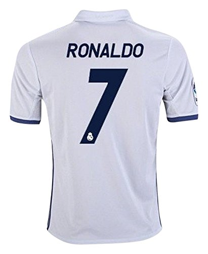 Soccer Authority 7 Ronaldo Real Madrid Home Kid Soccer Jersey   Matching Shorts Set 2015 16   Youth  5 To 6 Years Old    X Small