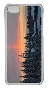 Customized iphone 5C PC Transparent Case - Winter Chalets Personalized Cover