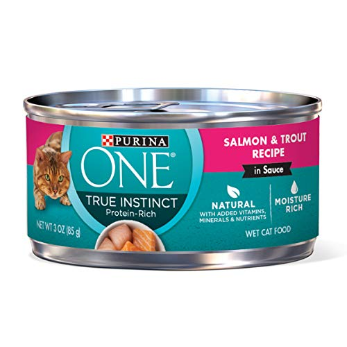 Purina One True Instinct Recipes Wet Cat Food, Salmon &  Tro