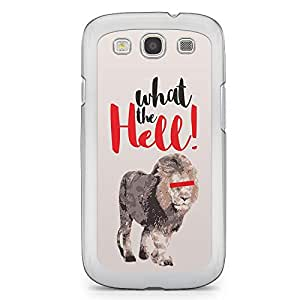 Lion Samsung Galaxy S3 Transparent Edge Case - What the Hell Collection