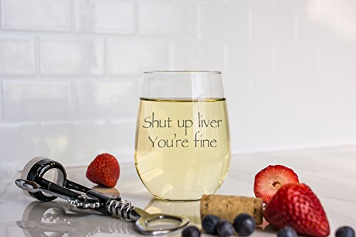 Wedding Wine Gift - Funny Stemless wine glass (15 oz) - Great for Bachelorette Parties - Unique Wine Glasses - Restaurant Quality for Red or White Wine - A fun Gift for Any Wine Lover by WineLolz (Image #2)