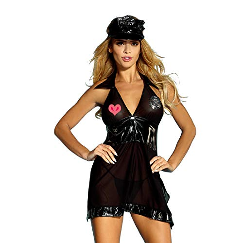 EDENIGHT Police Costume Dirty Cop Lingerie Outfits Cosplay Uniform for Women]()