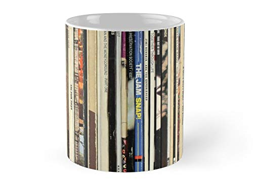 Classic Rock Vinyl Records 11oz Mug - Great gift for family and friends. (Walmart Coffee Mugs)