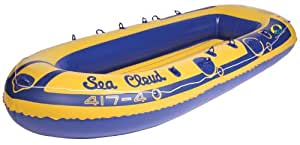 Stansport Sea Cloud Inflatable Vinyl Boat with 4 Seats